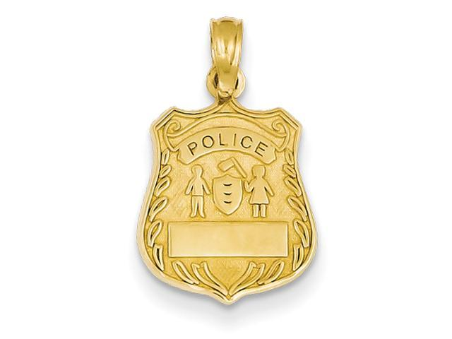 14k Police Badge Pendant