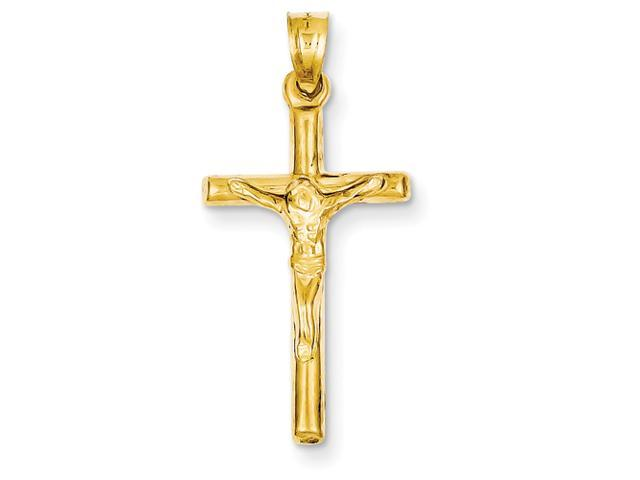 14k Hollow Crucifix Pendant