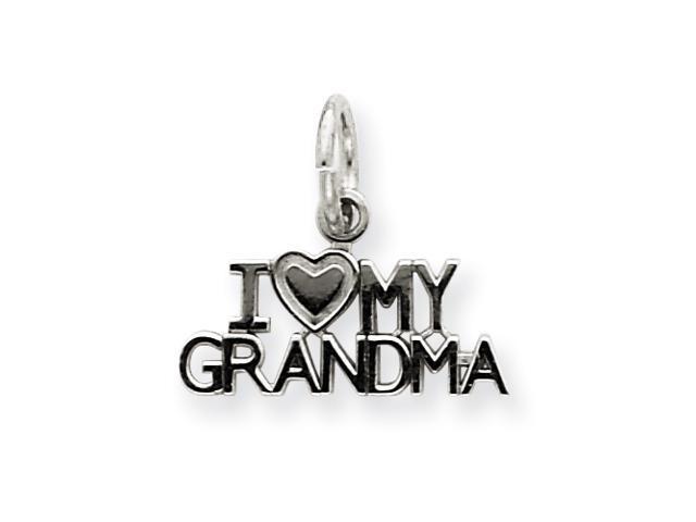 14k White Gold I Love My Grandma Charm