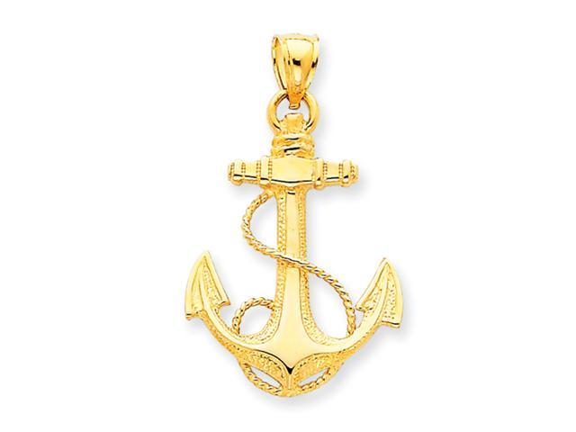 14k Anchor w/Rope Pendant
