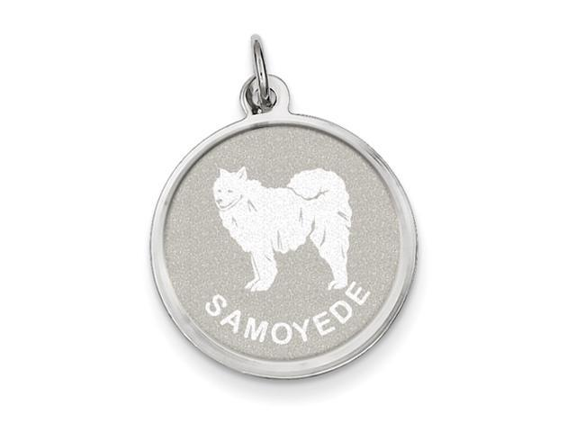 Sterling Silver Samoyed Disc Charm