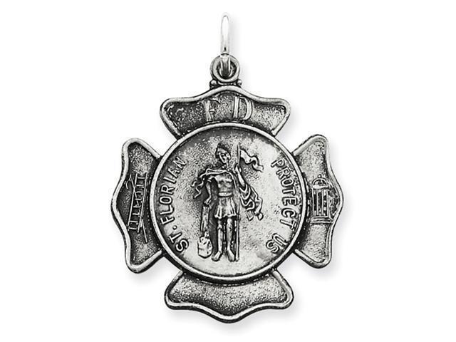 Sterling Silver Saint Florian Badge Medal