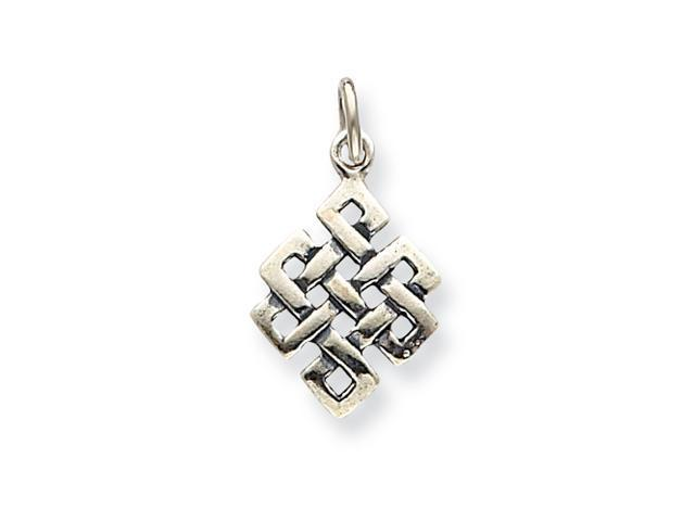 Sterling Silver Antiqued Square Celtic Knot Charm