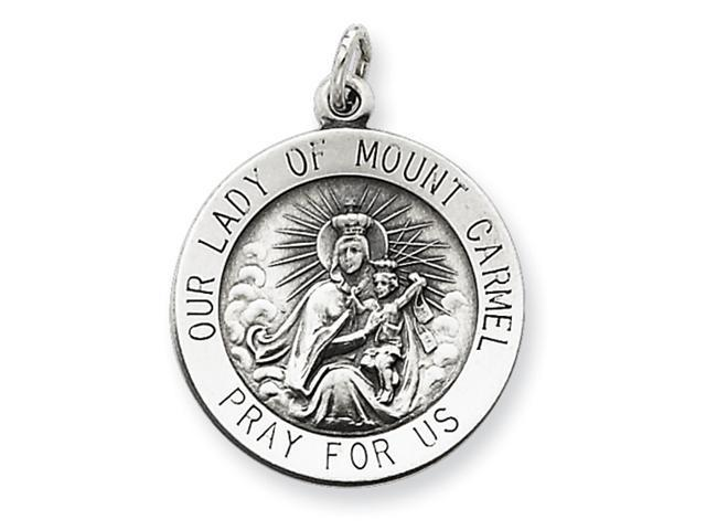 Sterling Silver Antiqued Our Lady of Mount Carmel Medal