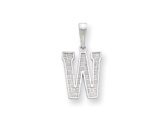 Sterling Silver Initial W Charm