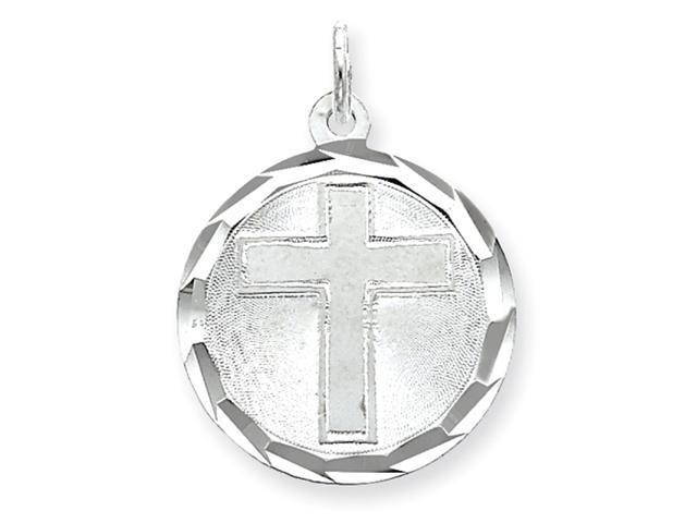 Sterling Silver Cross Disc Charm