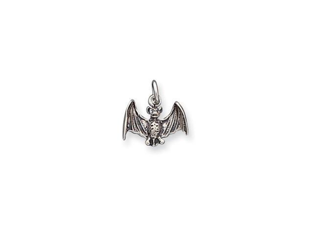 Sterling Silver Antiqued Bat Charm