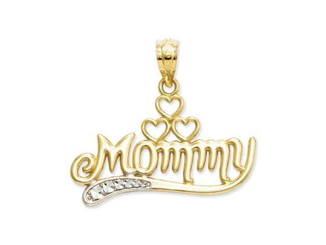 14k and Rhodium Mommy Pendant