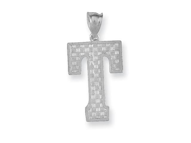 Sterling Silver Initial T Charm