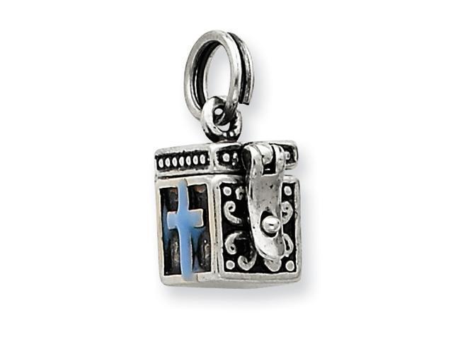 Sterling Silver Enamaled Prayer Box Charm