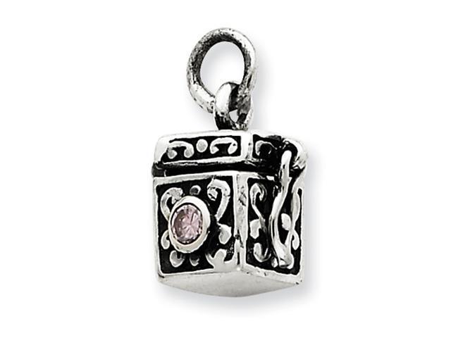 Sterling Silver Antiqued Prayer Box Charm