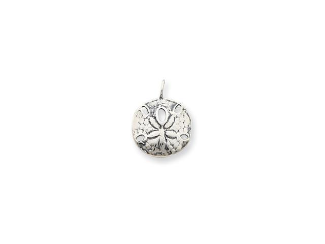 Sterling Silver Antiqued Sand Dollar Charm
