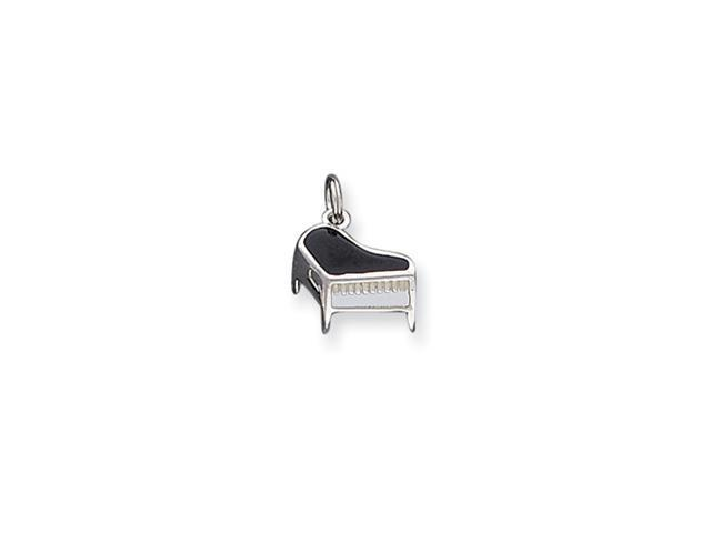 Sterling Silver Enameled Piano Charm