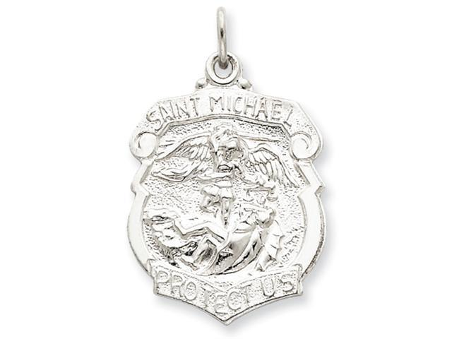 Sterling Silver Saint Michael Badge Medal