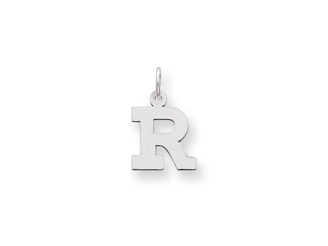 Sterling Silver Small Block Intial R Charm