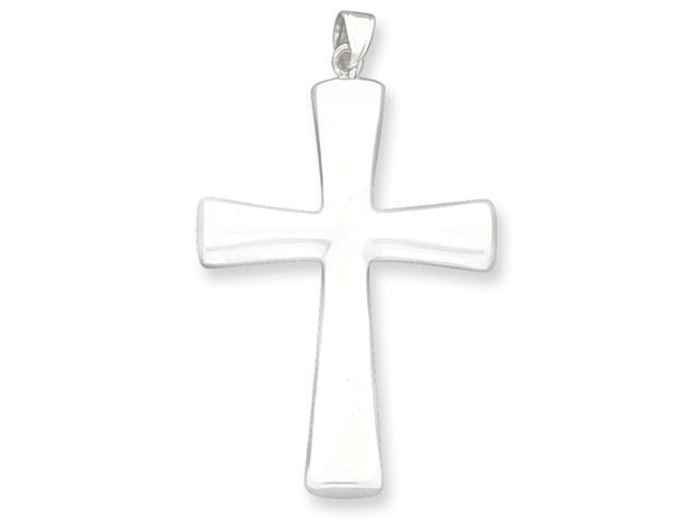 Sterling Silver Hollow Cross Pendant