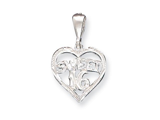 Sterling Silver HEART SWEET 16 Charm