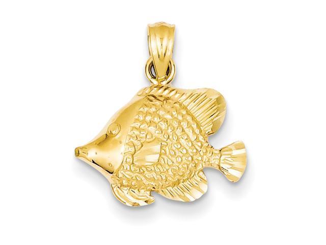 14K Fish Pendant
