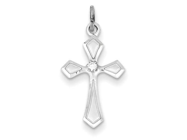 Sterling Silver CZ Passion Cross Charm