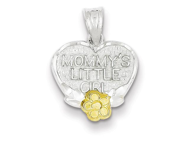 Sterling Silver Mommys Little Girl Heart Charm