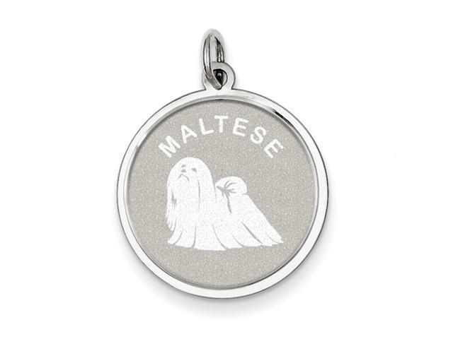 Sterling Silver Maltese Disc Charm