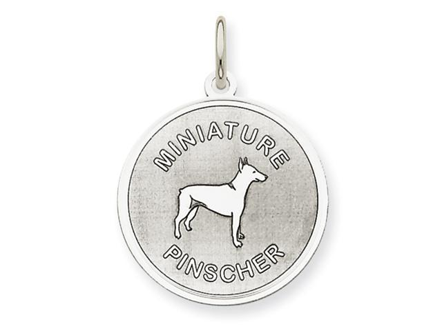 Sterling Silver Miniature Pinscher Disc Charm