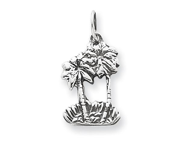 Sterling Silver Double Palm Tree Charm