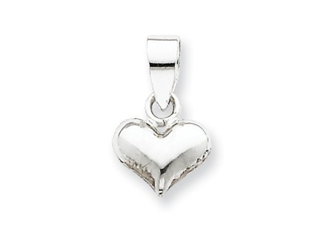 Sterling Silver Puff Heart Pendant