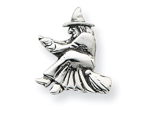 Sterling Silver Antiqued Witch Pendant
