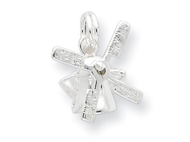 Sterling Silver Polished Windmill w/ Spring Ring Charm