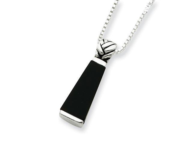 Sterling Silver Onyx Pendant w/Chain