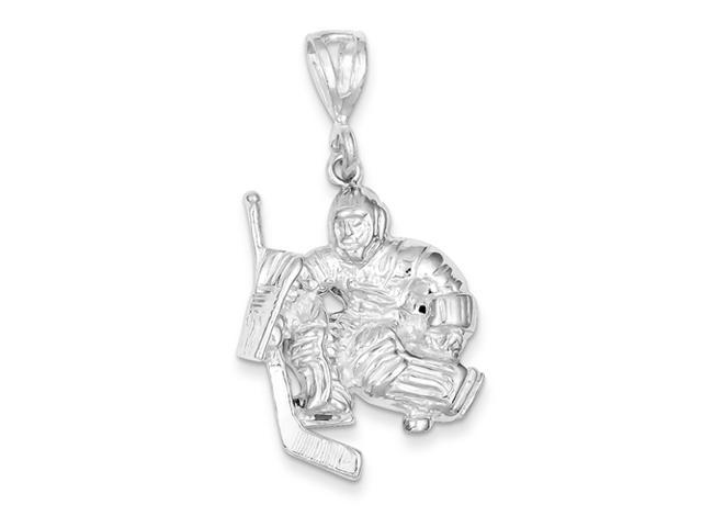Sterling Silver Hockey Goalie Charm
