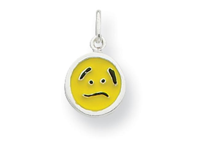Sterling Silver Enameled Emotion Face Charm