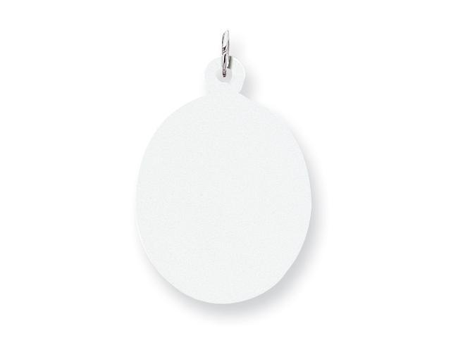 Sterling Silver Engraveable Oval Disc Charm