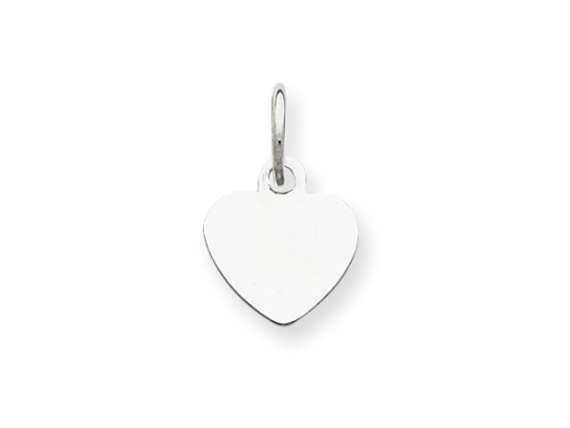Sterling Silver Engraveable Heart Disc Charm