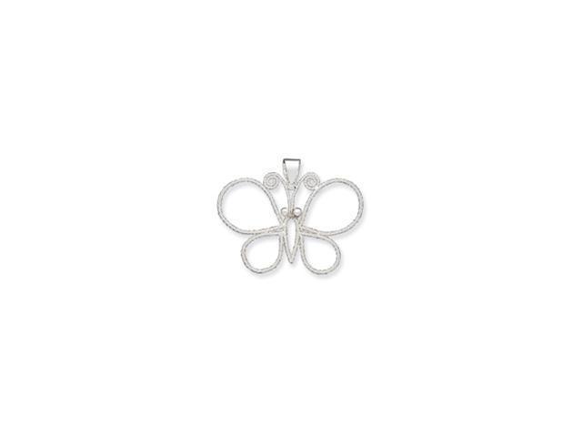 Sterling Silver Fancy Butterfly Pendant