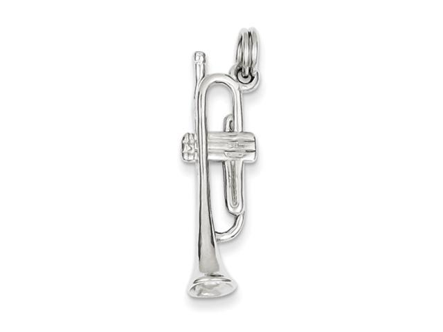 Sterling Silver Polished Trumpet w/ Spring Ring Charm
