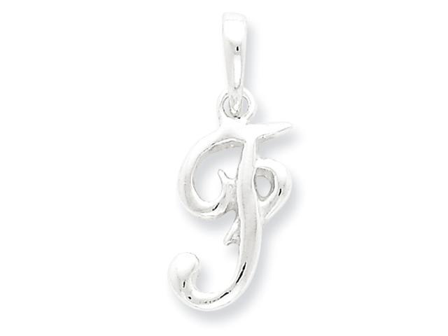 Sterling Silver Initial F Pendant