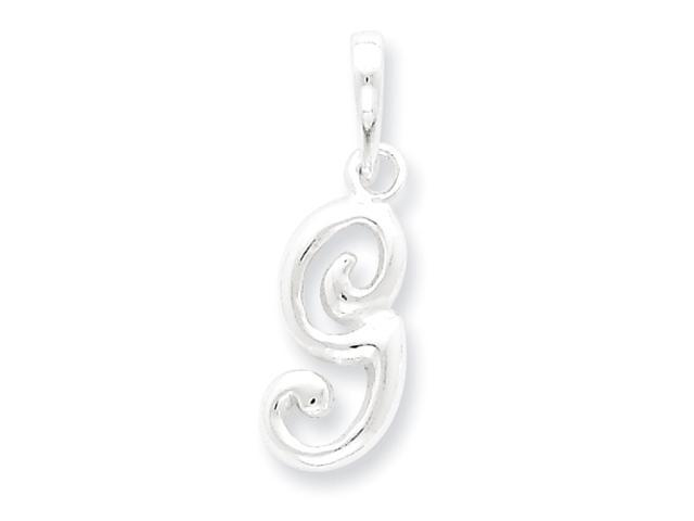 Sterling Silver Initial G Pendant