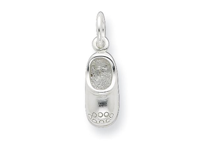 Sterling Silver Polished Shoe w/ Design Charm
