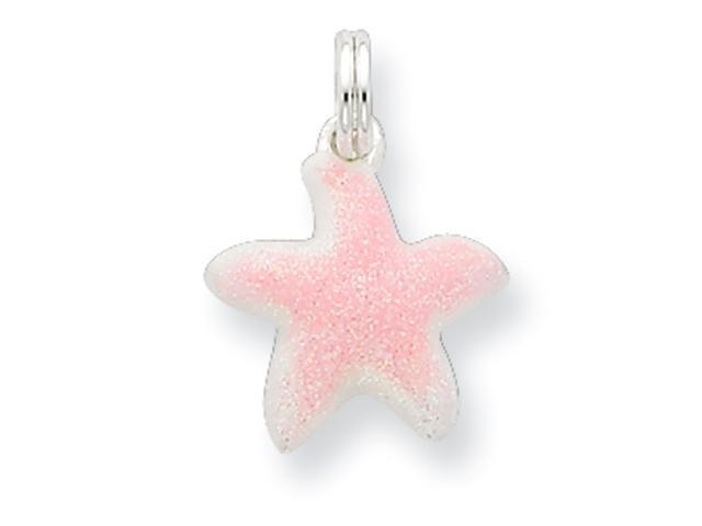 Sterling Silver Sparkle Star w/ Spring Ring Charm