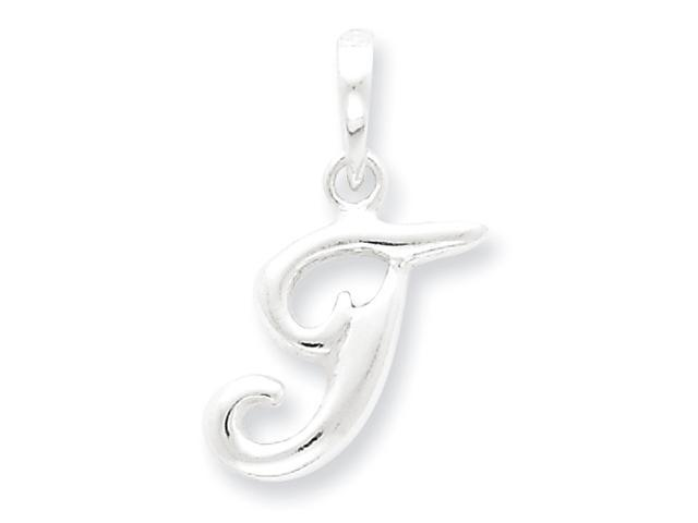 Sterling Silver Initial T Pendant