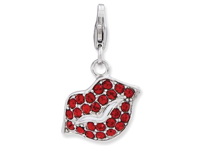 Sterling Silver Lips w/Lobster Clasp Charm