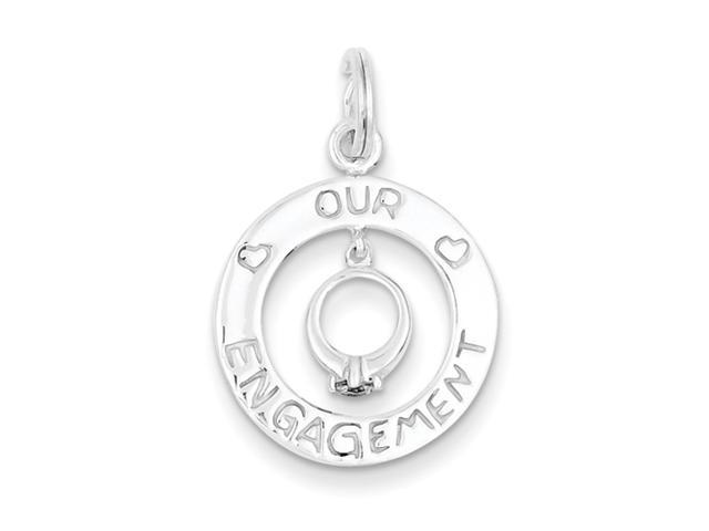 Sterling Silver Our Engagement Charm