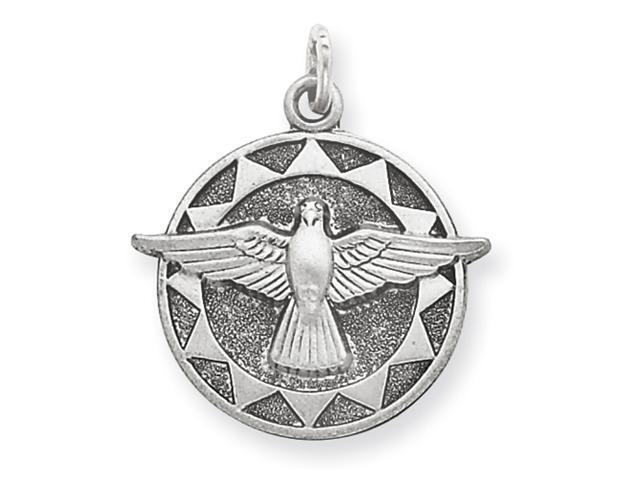 Sterling Silver Antiqued Holy Spirit Medal