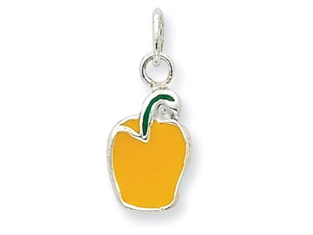 Sterling Silver Enameled Yellow Pepper Charm
