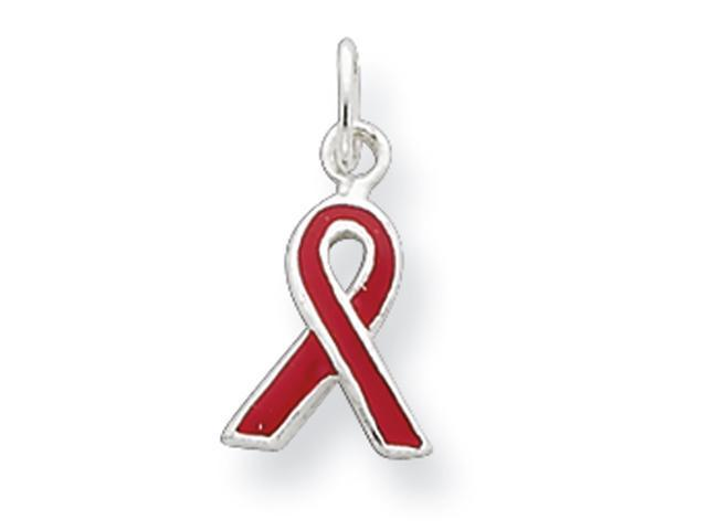 Sterling Silver Red Enameled Awareness Charm