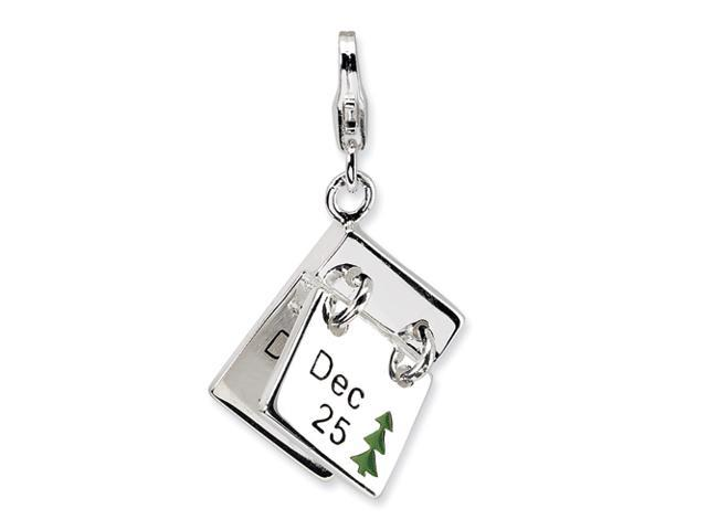 Sterling Silver 3-D Enameled Dec. 25 and Dec. 26 w/Lobster Clasp Charm