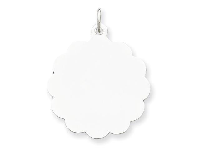 Sterling Silver Engraveable Disc Charm