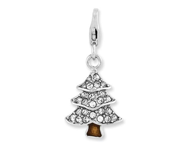 Sterling Silver Enameled Tree w/Lobster Clasp Charm